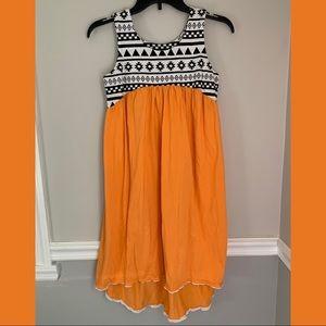 Kids Orange, Black and White Aztec Zulily dress
